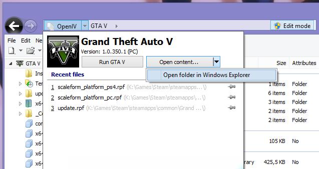 TUT] Use OpenIV